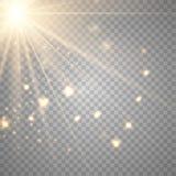 Διανυσματικός διαφανής ειδικός φακός φωτός του ήλιου διανυσματική απεικόνιση