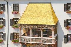 Χρυσή στέγη (Goldenes Dachl) στο Ίνσμπρουκ, Αυστρία Στοκ Φωτογραφίες