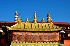 Χρυσή στέγη Jokhang Lhasa Θιβέτ Στοκ Εικόνες