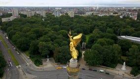 Χρυσή στήλη νίκης στο Βερολίνο απόθεμα βίντεο