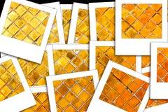 Χρυσή στιγμιαία φωτογραφία τοίχων Στοκ Εικόνα