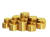 χρυσή στοίβα νομισμάτων απεικόνιση αποθεμάτων