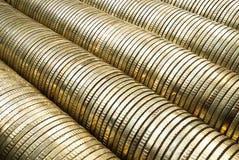 χρυσή στοίβα νομισμάτων Στοκ Εικόνες