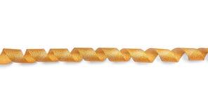 Χρυσή στριμμένη κορδέλλα σπείρα Στοκ εικόνες με δικαίωμα ελεύθερης χρήσης