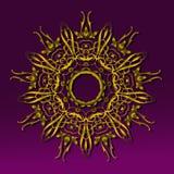 Χρυσή στρογγυλή εκλεκτής ποιότητας διακόσμηση Στοκ Εικόνες