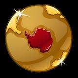Χρυσή σφαίρα με χαρακτηρισμένος των χωρών της Γροιλανδίας απεικόνιση αποθεμάτων