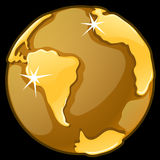 Χρυσή σφαίρα σε ένα μαύρο υπόβαθρο διάνυσμα απεικόνιση αποθεμάτων