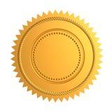 χρυσή σφραγίδα Στοκ φωτογραφίες με δικαίωμα ελεύθερης χρήσης
