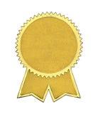 Χρυσή σφραγίδα με τις κορδέλλες Στοκ εικόνες με δικαίωμα ελεύθερης χρήσης
