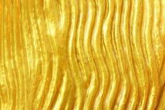 Χρυσή σύσταση στρώματος Στοκ Φωτογραφίες