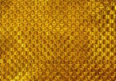 Χρυσή σύσταση του πλεξίματος δέρματος ανασκόπηση χρυσή Στοκ Εικόνες