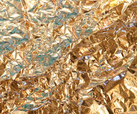 χρυσή σύσταση φύλλων αλουμινίου Στοκ εικόνα με δικαίωμα ελεύθερης χρήσης