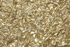 χρυσή σύσταση 2 φύλλων αλουμινίου Στοκ Φωτογραφία