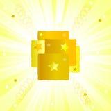 χρυσή σύσταση starburst απεικόνιση αποθεμάτων