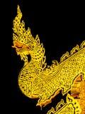 Χρυσή τέχνη φιδιών στο ναό Στοκ Εικόνα
