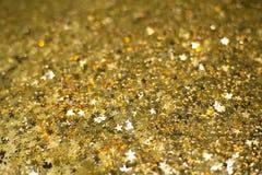 Χρυσή ταπετσαρία θαμπάδων υποβάθρου Στοκ εικόνες με δικαίωμα ελεύθερης χρήσης