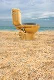 χρυσή τουαλέτα στοκ φωτογραφία με δικαίωμα ελεύθερης χρήσης