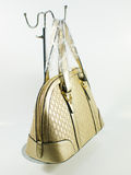 Χρυσή τσάντα δέρματος Στοκ Εικόνες