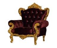 Χρυσή υφαντική καρέκλα πολυτέλειας Στοκ φωτογραφία με δικαίωμα ελεύθερης χρήσης
