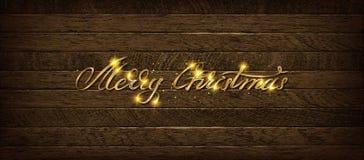 Χρυσή Χαρούμενα Χριστούγεννα επιγραφής Απεικόνιση αποθεμάτων