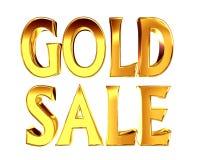Χρυσή χρυσή πώληση κειμένων σε ένα άσπρο υπόβαθρο Στοκ Φωτογραφία