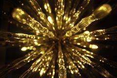 Χρυσή όμορφη αφηρημένη ανασκόπηση bokeh Στοκ Φωτογραφία