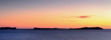 Χρυσή ώρα σε Ibiza Στοκ εικόνες με δικαίωμα ελεύθερης χρήσης