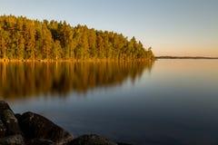 Χρυσή ώρα στην ακτή Στοκ Φωτογραφίες