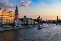 Χρυσή ώρα στη Μόσχα Στοκ φωτογραφία με δικαίωμα ελεύθερης χρήσης