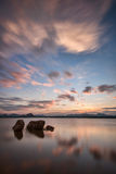 Χρυσή ώρα όχθεων της λίμνης σε Gudibande, Karnataka Στοκ φωτογραφία με δικαίωμα ελεύθερης χρήσης