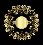 Χρυσή floral διακόσμηση διανυσματική απεικόνιση