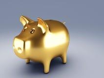 Χρυσή piggy τράπεζα Στοκ Εικόνες