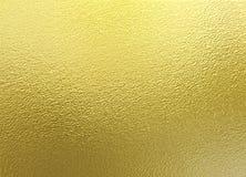χρυσή s ανασκόπησης ταπετσαρία χρώματος Χρυσή διακοσμητική σύσταση φύλλων αλουμινίου Στοκ φωτογραφίες με δικαίωμα ελεύθερης χρήσης