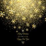 Χρυσή snowflakes Χριστουγέννων ανασκόπηση Στοκ φωτογραφία με δικαίωμα ελεύθερης χρήσης