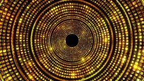 Χρυσοί ακτινοβολώντας κύκλοι απόθεμα βίντεο