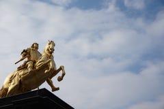 Χρυσοί αναβάτες Δρέσδη, Γερμανία στοκ εικόνες