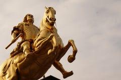Χρυσοί αναβάτες Δρέσδη, Γερμανία στοκ εικόνα με δικαίωμα ελεύθερης χρήσης