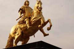 Χρυσοί αναβάτες Δρέσδη, Γερμανία στοκ φωτογραφίες
