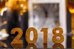 χρυσοί αριθμοί έτους του 2018 Στοκ φωτογραφίες με δικαίωμα ελεύθερης χρήσης
