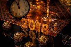 χρυσοί αριθμοί έτους του 2018 Στοκ εικόνα με δικαίωμα ελεύθερης χρήσης