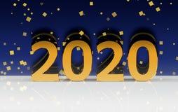 Χρυσοί 2020 αριθμοί διανυσματική απεικόνιση
