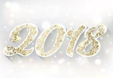 χρυσοί αριθμοί 2018 καλή χρονιά Στοκ Εικόνες
