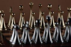 Χρυσοί αριθμοί σκακιού στοκ εικόνα με δικαίωμα ελεύθερης χρήσης