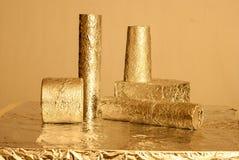 Χρυσοί αριθμοί φύλλων αλουμινίου στοκ φωτογραφίες