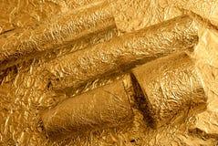 Χρυσοί αριθμοί φύλλων αλουμινίου Στοκ εικόνα με δικαίωμα ελεύθερης χρήσης