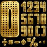 χρυσοί αριθμοί Στοκ φωτογραφία με δικαίωμα ελεύθερης χρήσης