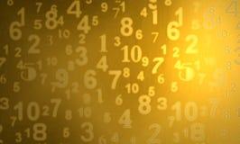 χρυσοί αριθμοί Στοκ Εικόνες