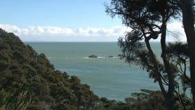 Χρυσοί βράχοι κόλπων, χρυσός κόλπος, Νέα Ζηλανδία απόθεμα βίντεο
