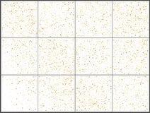 Χρυσοί εορτασμοί κομφετί σημείων Πόλκα Απλό εορταστικό σύγχρονο σχέδιο Διάνυσμα διακοπών E απεικόνιση αποθεμάτων