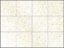 Χρυσοί εορτασμοί κομφετί σημείων Πόλκα Απλό εορταστικό σύγχρονο σχέδιο Διάνυσμα διακοπών E διανυσματική απεικόνιση